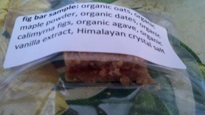 Fig Bar Sample From One Lucky Duck