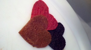 Fruit Leather Hearts