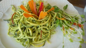 Pesto with Zucchini Noodles