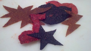 Cutesy Fruit Leather Shapes