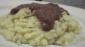 Ani Phyo's Mashed Potatoes and Mushroom Gravy