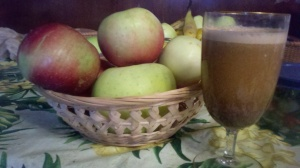 4 Apples 2 Tablespoons Ground Flax Cinnamon & Nutmeg to taste