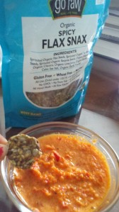 Go Raw Flax Snax with Beanless Red Pepper Hummus