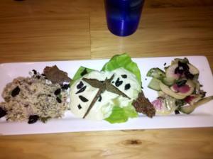 Raw Mezze Platter from Garden Grille
