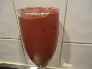 Beet Top Breakfast Smoothie In Glass