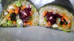 Godzilla Spinach Wrap